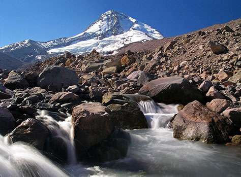 The Eliot Branch is Mount Hood's most volatile glacial stream.